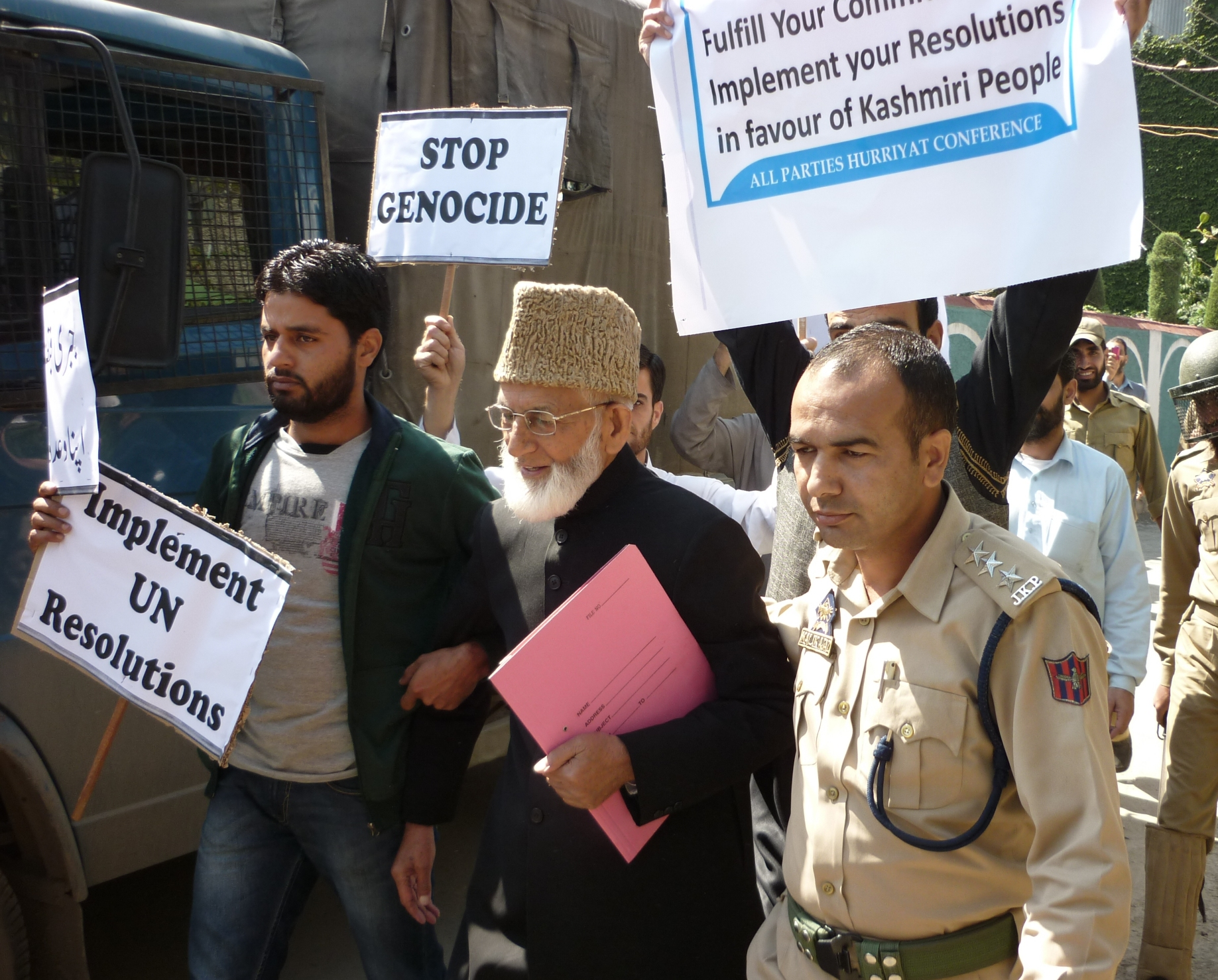 UN March Led By Syed Ali Geelani Chairman APHC