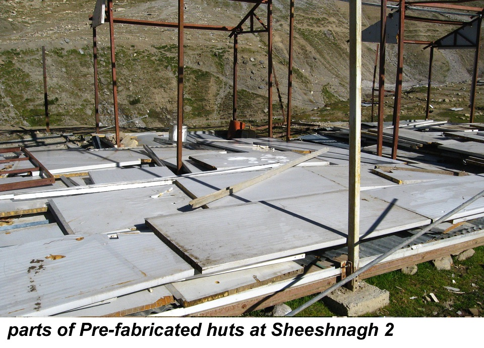parts of Pre-fabricated huts at Sheeshnagh 2